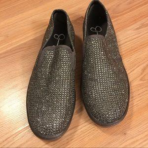 Jessica Simpson rhinestone sneakers